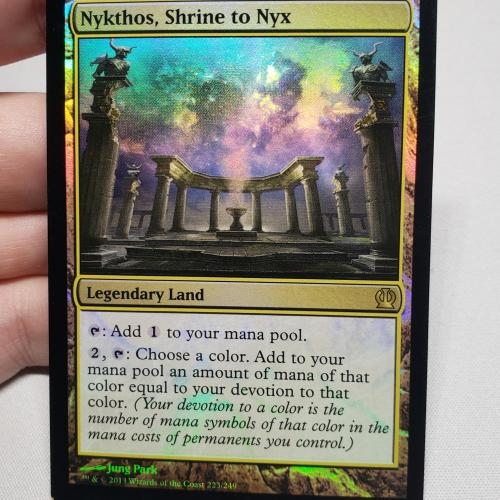Nykthos, Shrine to Nyx (Foil Miscut Off-Center)
